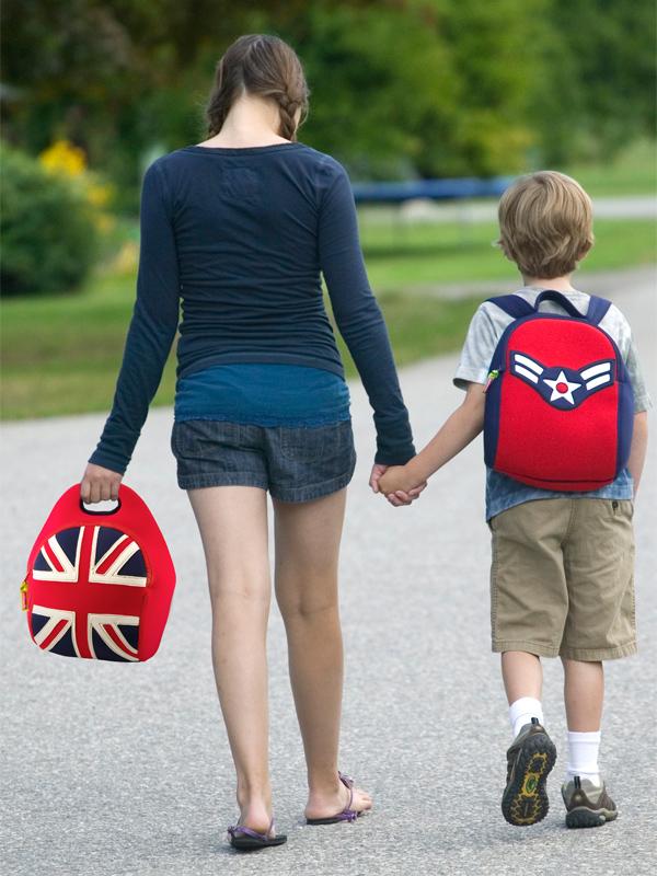 瓦拉手提包 (英国风),轻巧好背mit,专为学龄前小朋友设计,符合美国